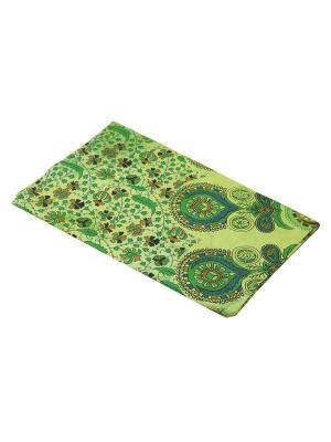 Покрывало декоративное набивное ETHNIC CHIC. Цвет: зеленый