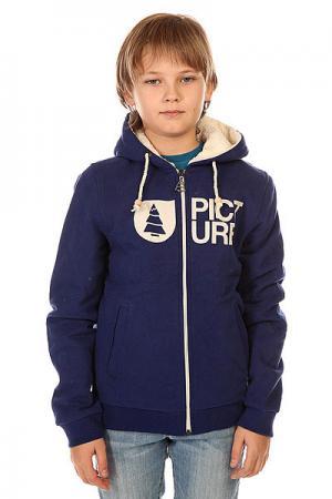 Толстовка утепленная детская  Basement Plush Dark Blue Picture Organic. Цвет: синий