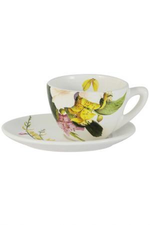Чашка с блюдцем Фреско Ceramiche Viva. Цвет: мультиколор