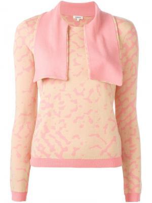 Свитер с шарфом Manoush. Цвет: розовый и фиолетовый