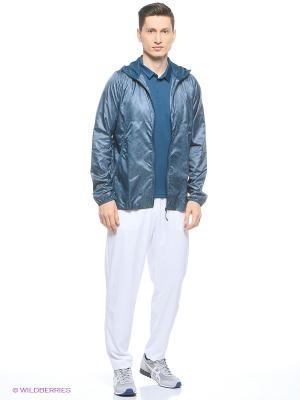 Куртка LIGHTWEIGHT WOVEN JACKET ASICS. Цвет: серый, голубой, зеленый