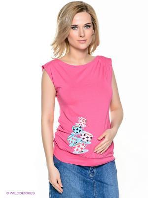 Топ для беременных ФЭСТ. Цвет: розовый