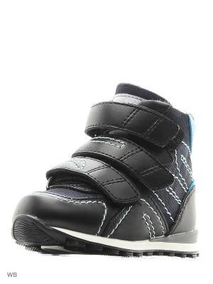 Ботинки ортопедические ORTHOBOOM. Цвет: черный, голубой