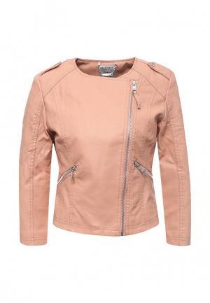 Куртка кожаная Alcott. Цвет: розовый