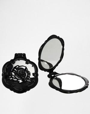 Anna Sui Компактное зеркальце в форме розы. Цвет: бесцветный