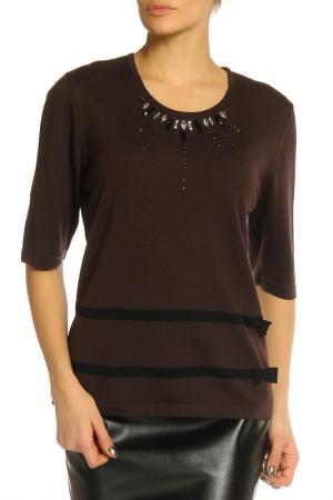 Блуза Elisa Fanti. Цвет: коричневый