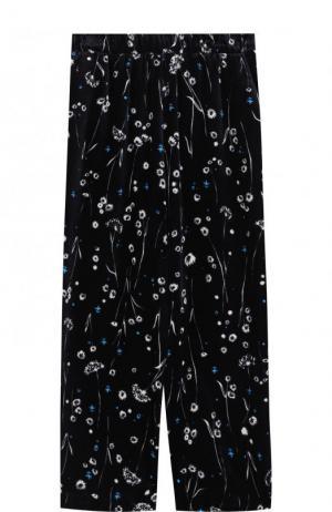 Бархатные брюки с принтом Alexander Terekhov. Цвет: синий