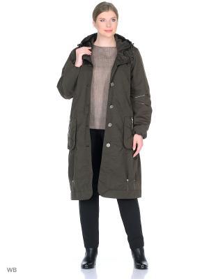 Пальто Одри VIKO. Цвет: серо-зеленый