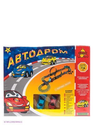 Автодром эстакада Тилибом. Цвет: желтый, красный