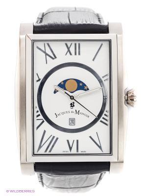 Часы наручные Jacques du Manoir. Цвет: серебристый