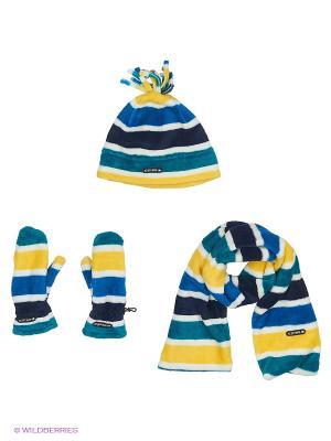 Комплект( Шапка+Шарф+Варежки) Icepeak. Цвет: синий