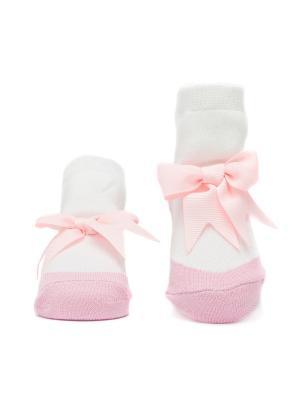 Носочки Бантики Pretty Fashion Baby. Цвет: розовый