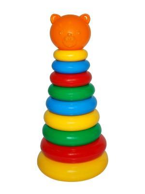 Игрушка развивающая Пирамидка ТИГРЕС. Цвет: зеленый, красный, желтый, синий