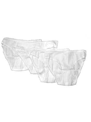 Трусы женские комплект 4 шт Oztas underwear. Цвет: белый