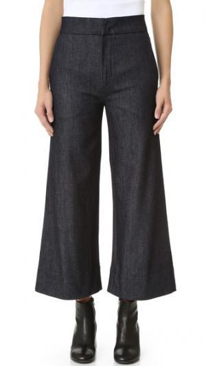 Укороченные очень широкие джинсы Victoria Beckham. Цвет: коричневый