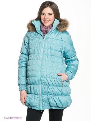 Куртка EUROMAMA. Цвет: светло-зеленый