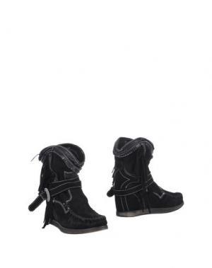 Полусапоги и высокие ботинки EL VAQUERO. Цвет: черный