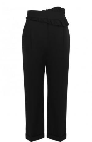 Укороченные хлопковые брюки со стрелками Carven. Цвет: черный