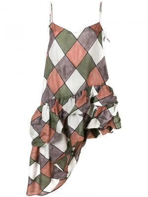 Платье Dreamscape Harlequin Isa Arfen. Цвет: многоцветный