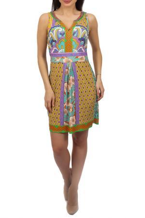 Платье Hale Bob. Цвет: мультицвет