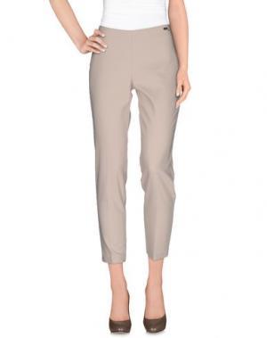 Повседневные брюки CARLA MONTANARINI. Цвет: бежевый