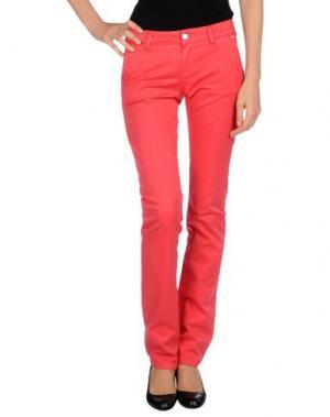 Повседневные брюки RE-HASH. Цвет: коралловый