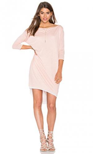 Платье terris CHARLI. Цвет: розовый
