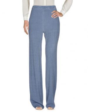 Повседневные брюки PINK MEMORIES. Цвет: грифельно-синий
