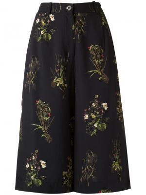Укороченные расклешенные брюки Osklen. Цвет: чёрный