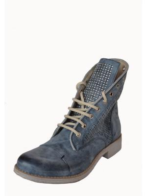 Ботинки Doppio senso. Цвет: синий