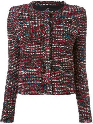 Кожаная байкерская куртка Iro. Цвет: коричневый