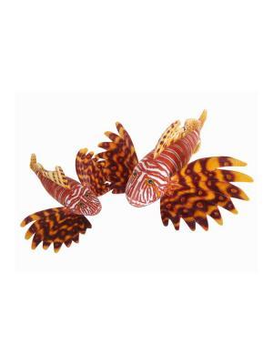 Мягкая игрушка Крылатка-зебра, 35 АБВГДЕЙКА. Цвет: коричневый
