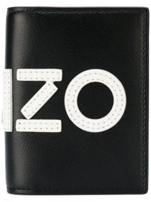 Кошелек с логотипом Kenzo. Цвет: чёрный