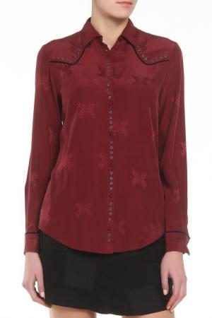 Рубашка Zadig&Voltaire. Цвет: малиновый