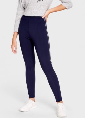 Трикотажные брюки с контрастным кантом OSTIN. Цвет: темно-синий