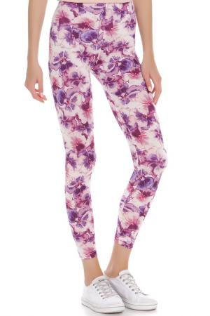 Легинсы American Apparel. Цвет: violets on white