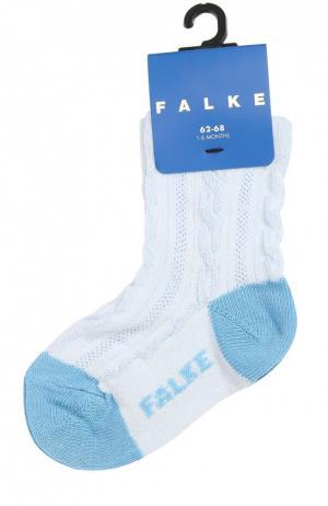 Носки из эластичного хлопка Falke. Цвет: голубой