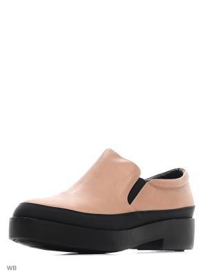Ботинки EL ROSSO. Цвет: бежевый