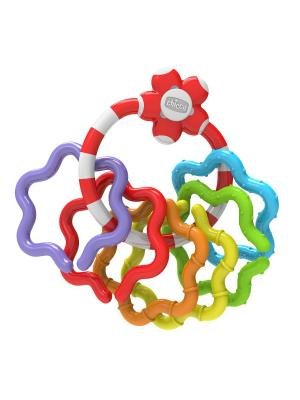 Игрушка-погремушка Кольца CHICCO. Цвет: красный,синий,зеленый
