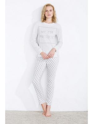 Пижама Women' Secret. Цвет: светло-серый