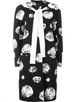 Пальто с цветочным принтом и завязкой Proenza Schouler. Цвет: чёрный