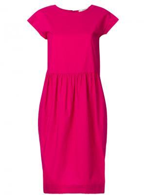 Расклешенное платье-рубашка Odeeh. Цвет: розовый и фиолетовый