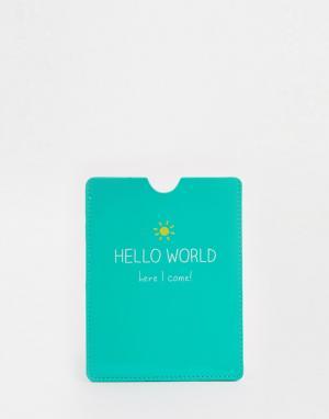 Happy Jackson Обложка для паспорта Hello World. Цвет: зеленый