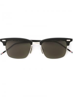 Солнцезащитные очки с квадратной оправой Thom Browne. Цвет: чёрный