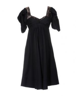 Платье до колена 6267. Цвет: темно-синий