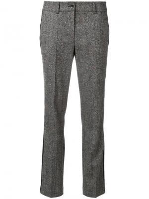 Твидовые расклешенные брюки Luisa Cerano. Цвет: коричневый
