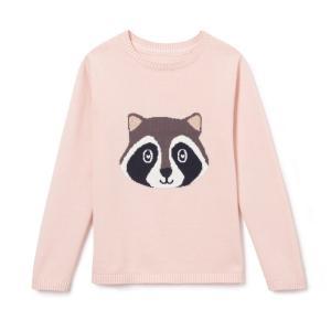 Пуловер с рисунком енот 3-12 лет La Redoute Collections. Цвет: розовый