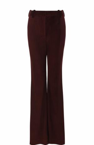 Расклешенные вельветовые джинсы с карманами Acne Studios. Цвет: бордовый