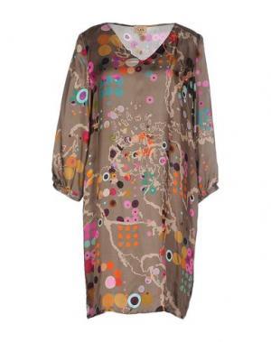 Короткое платье ALVIERO MARTINI 1A CLASSE. Цвет: светло-коричневый