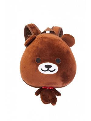 Ранец детский МИШУТКА BRADEX. Цвет: коричневый